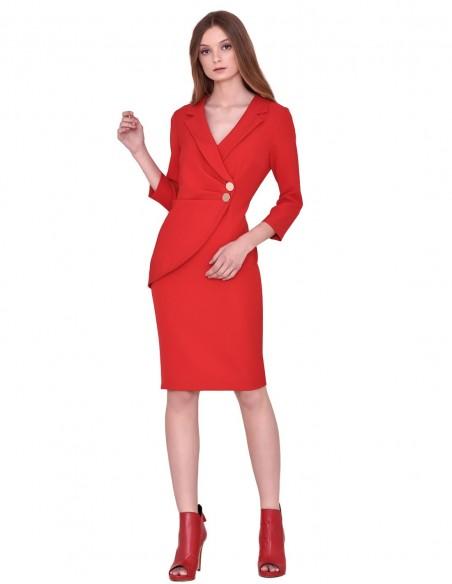 Cocktail blazer dress with V neckline by nuribel