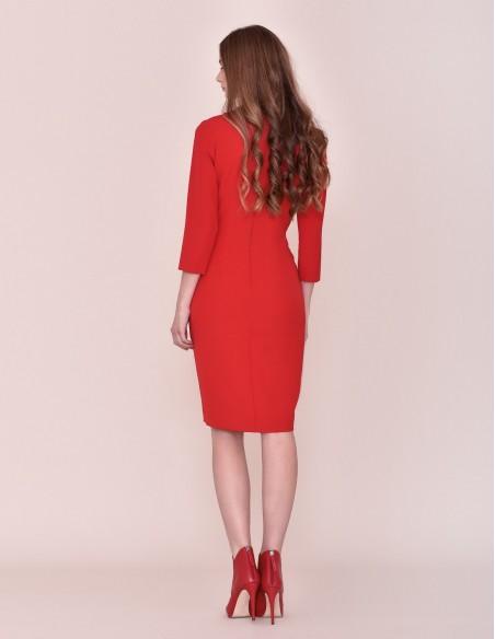 Cocktail blazer dress with V neckline for parties