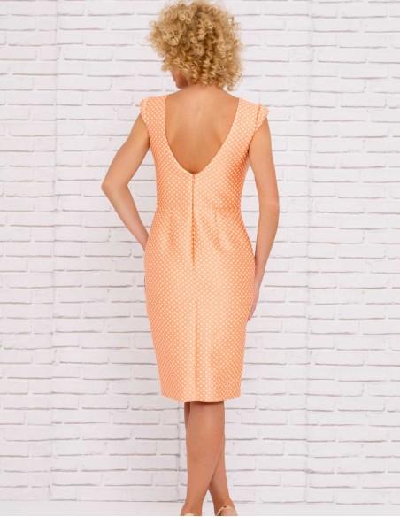 printed cocktail dress  crossed skirt open back details