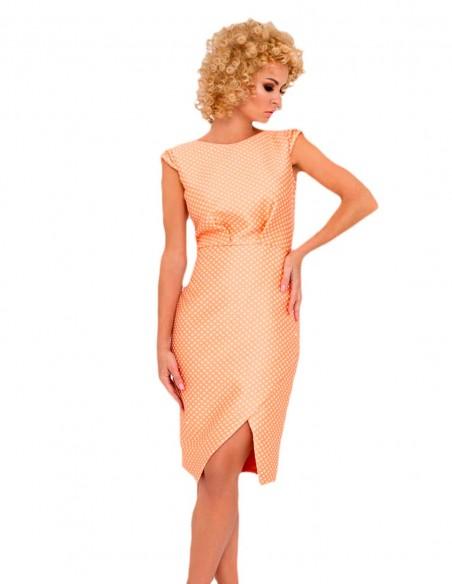 printed cocktail dress  crossed skirt open back