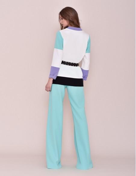 White party jacket with Nuribel Style V-neck