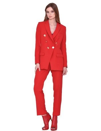 Traje de chaqueta tipo blazer con doble botonadura de nuribel