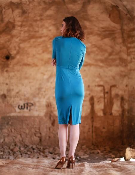 Short silk-stitch dress
