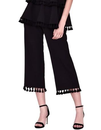 Pantalon culotte de fiesta con borlas de nuribel