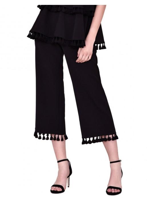 Tasseled party culotte pants by nuribel