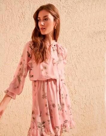 Pink Floral Print Cocktail Dress Lauren Lynn London - 2