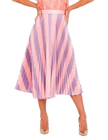 Falda plisada a rayas