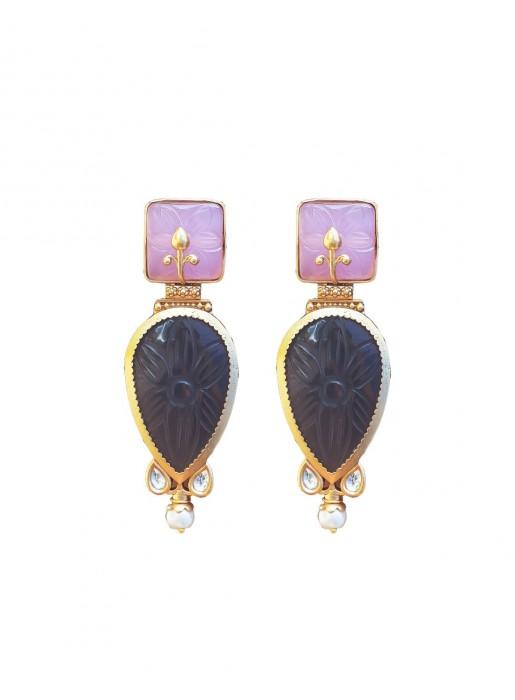 Cut gemstone teardrop earrings by Bombay Sunset