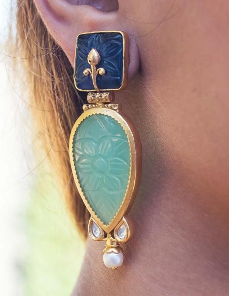 Cut gemstone teardrop earrings for the perfect guest
