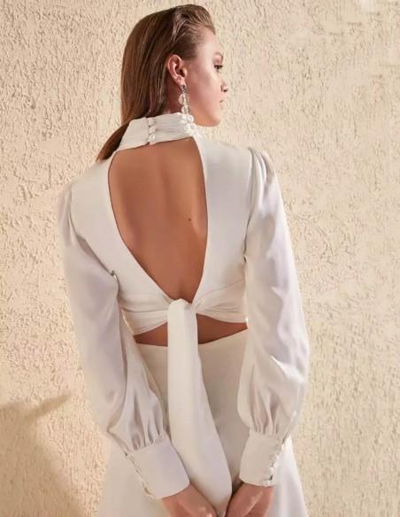 Open back mini dress with long sleeves Lauren Lynn London - 1