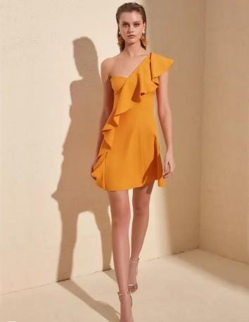 Cocktail mini dress with ruffle detail Lauren Lynn London - 3
