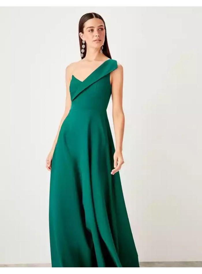 Asymmetric neckline maxi gown Lauren Lynn London - 1