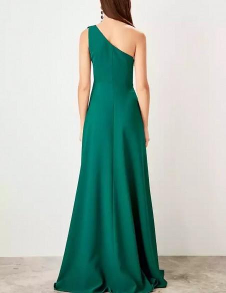 Asymmetric neckline maxi gown Lauren Lynn London - 3