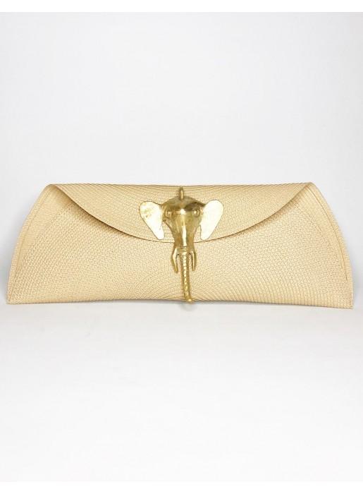 Raffia clutch with elephant brooch - various colours Carmen Fernández Complementos - 3