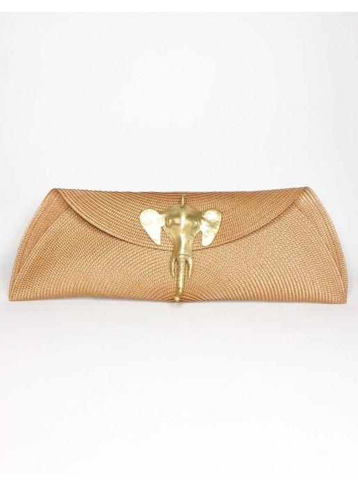Raffia clutch with elephant brooch - various colours Carmen Fernández Complementos - 4