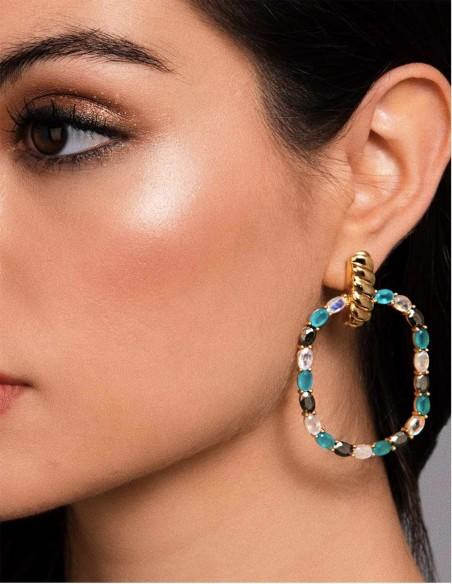 long golden piedraluna natural party earrings wedding party