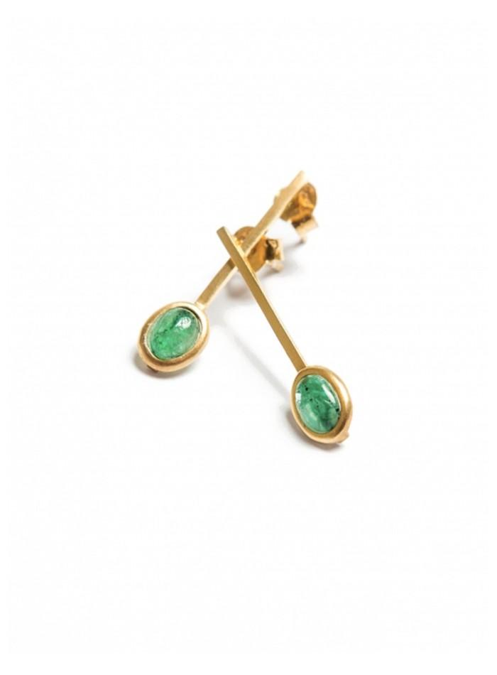 Party gold earrings