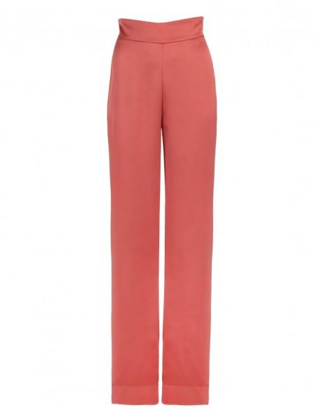Long straight pants with high pull Elsa Barreto - 4