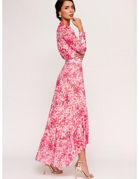 Blouse and skirt set with brushstroke design for wedding