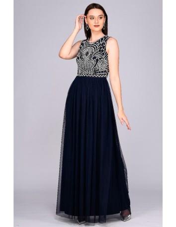 Long dress with artistic decoration top Gatsbylady London - 5