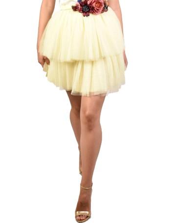 Falda de tul con dos capas de Mabel Galindo