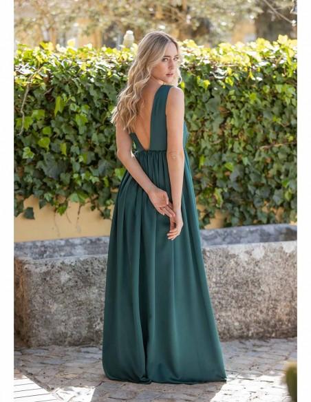 maxi party wedding dress green maui open back