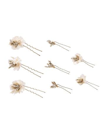 Juego de ocho picos de flores de hortensia en INVITADISIMA