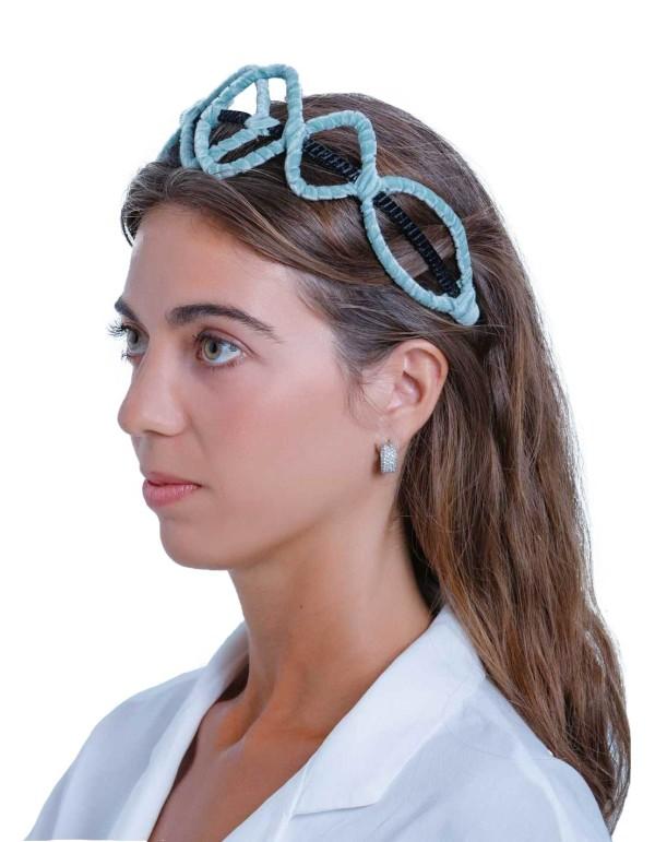 Diadema de terciopelo azul de Margarita Sangiovanni