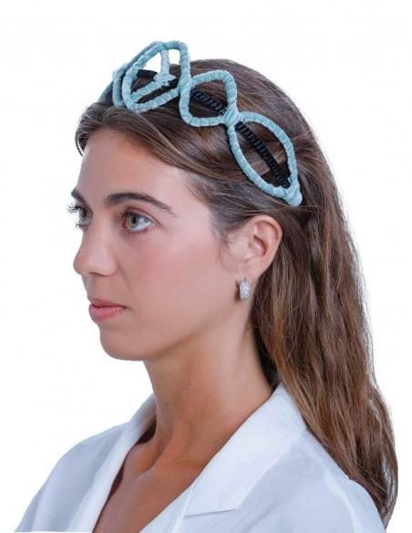 Blue velvet headband by Margarita Sangiovanni