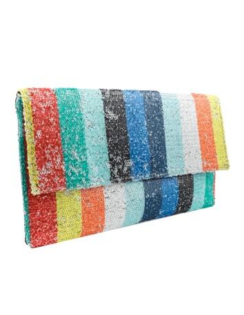Bolso sobre de fiesta de lentejuelas - Multicolor