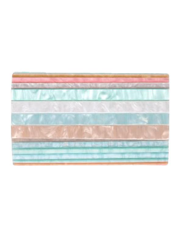 Bolso de fiesta de nacarado - Multicolor pastel