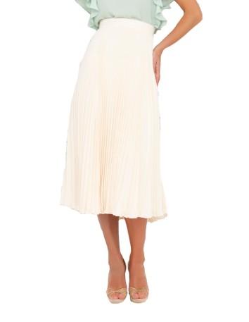 Falda de fiesta de tiro alto con detalle de pliegues en INVITADISIMA