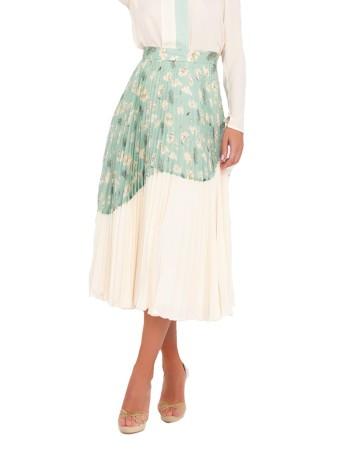 Falda de fiesta con diseño de estampado doble único de Nuribel