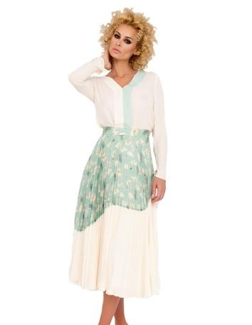 Conjunto de blusa y falda estampada de fiesta en INVITADISIMA de Nuribel Collection