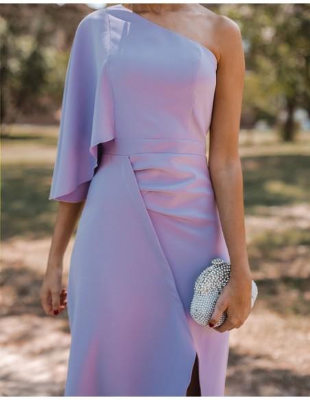 Vestido de fiesta largo con escote asimétrico - INVITADA PERFECTA