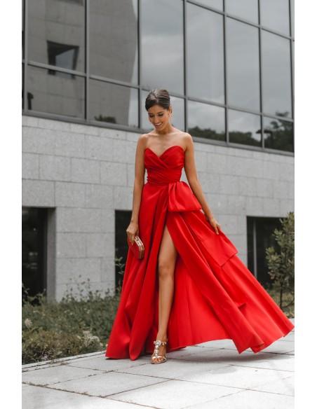 vestido fiesta largo rojo gala invitada