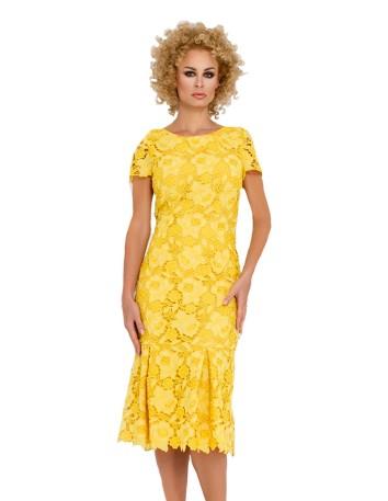 Vestido de cóctel con diseño de encaje en INVITADISIMA