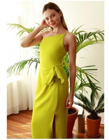 Asymmetrical neckline long gown Lauren Lynn London - 2