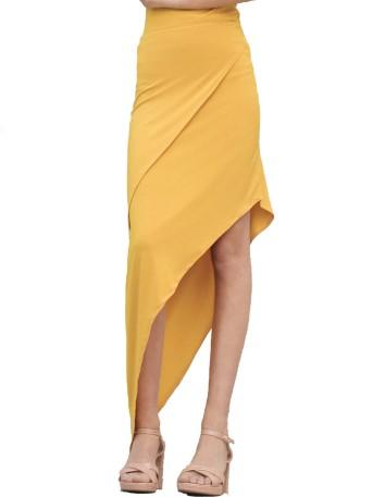 Falda midi asimétrica con capa de Anaika