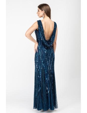 Vestido largo de fiesta con escote espalda Gatsby London