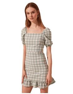 Vestido de cóctel de cuadros vichi
