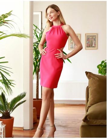 Mini dress with halter neck and openings Lauren Lynn London - 1