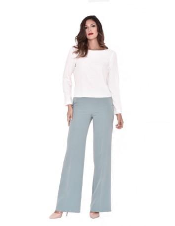 Blusa blanca de mangas francesas con botones nuribel - 1