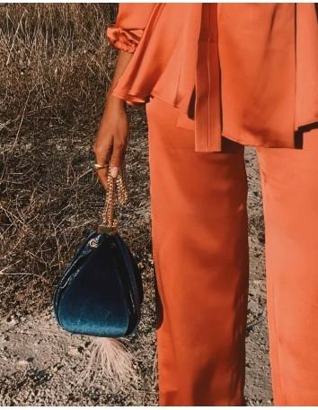 Blue velvet bag - Teresa...