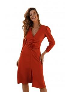 Knee-length dress with...