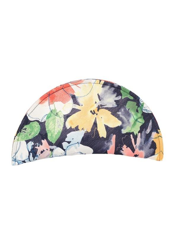 Raffia handbag with floral print at INVITADISIMA