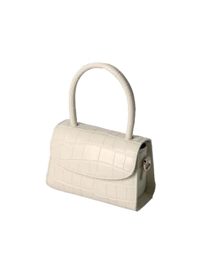 Beige leather mini handbag