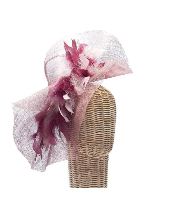 Tocado de invitada con diseño doblado y plumas D'nue For Ladies - 1