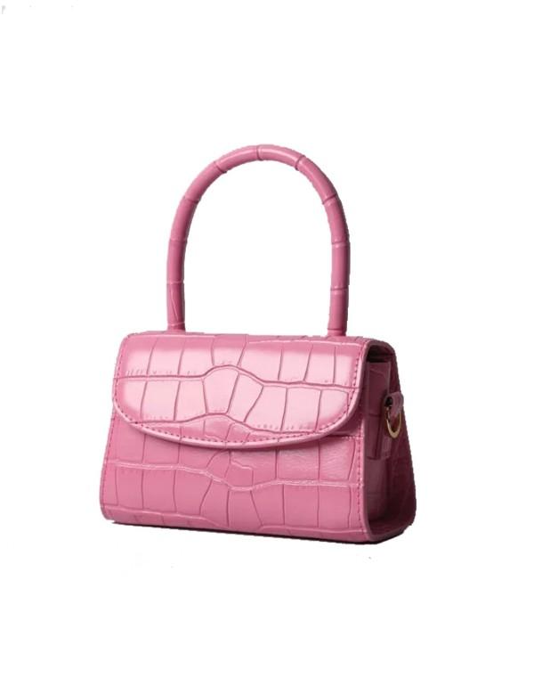 Pink leather mini handbag Susana Kumar - 1