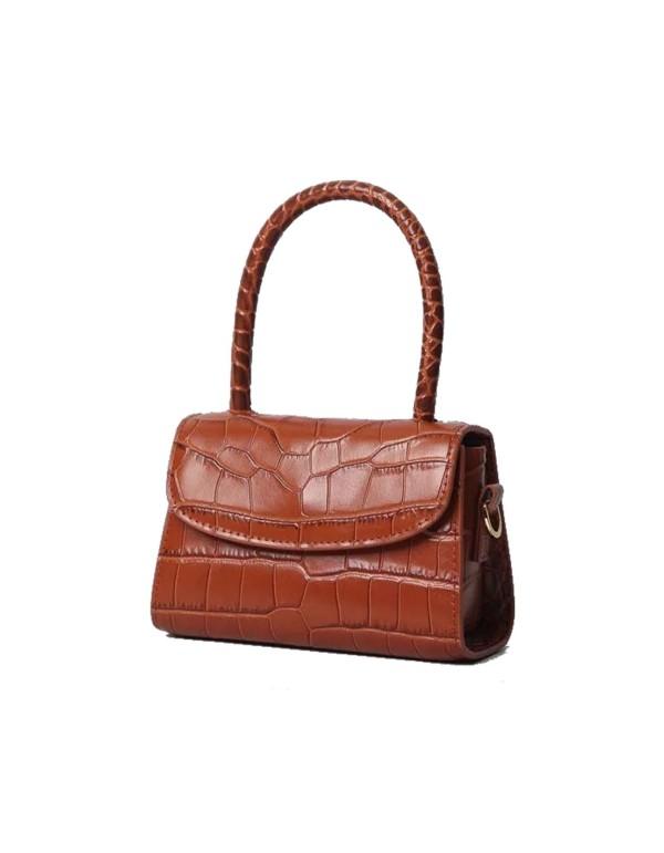 Brown mini leather handbag Susana Kumar - 1